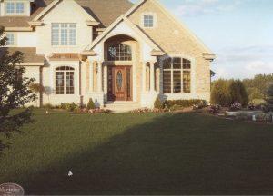 large landscaped lawn
