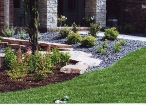 lawn and garden bed