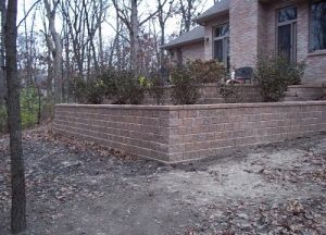 brick retaining wall